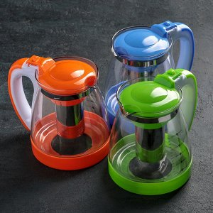 Чайник заварочный «Элтон», 1,8 л, с металлическим ситом, цвет МИКС