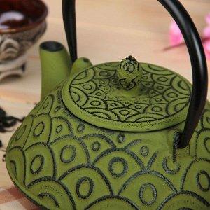"""Чайник с ситом 800 мл """"Джана"""", цвет зеленый"""