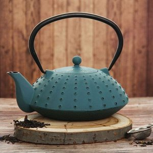 Чайник «Байсан», 1 л, с ситом, цвет синий