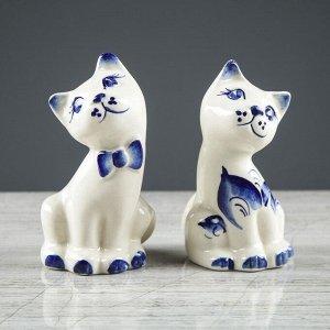 """Набор для специй """"Котята"""", роспись, 2 предмета, 12 см"""