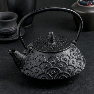 """Чайник с ситом 900 мл """"Джана"""", цвет черный"""