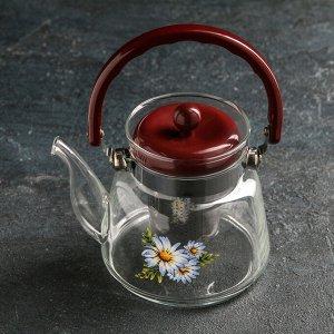 Чайник заварочный «Цветочная фантазия», 600 мл