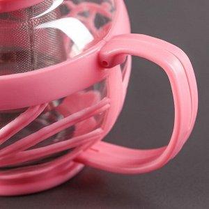 Чайник заварочный «Флора», 750 мл, цвет МИКС