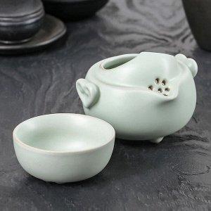Набор для чайной церемонии «Тясицу», 2 предмета: чайник 10,5?10,5?9 см, чашка