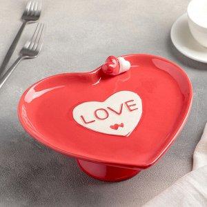 Блюдо для пирожны* «Сердца», 22*20 см