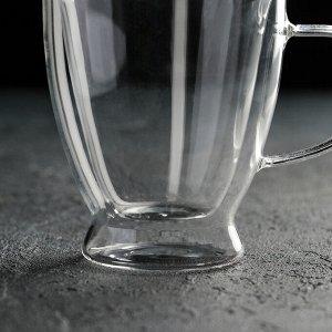 Кружка с двойными стенками «Дуо», 300 мл, 13?9?11 см