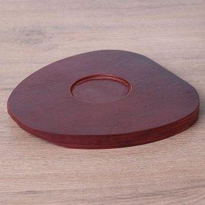Сковорода «Антиквариат», d=20 см, на деревянной подставке