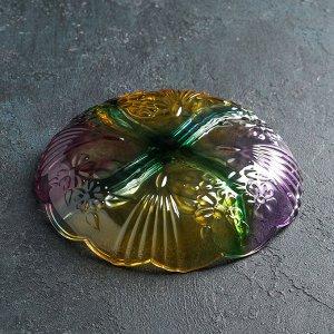Менажница круглая «Жар-птица», 21,5 см, 4 секции