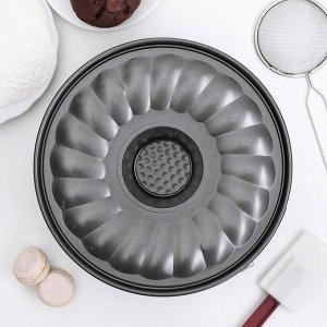 Форма для выпечки разъёмная 25 см «Элин. Немецкий кекс», со вкладышем для немецкого кекса, антипригарное покрытие