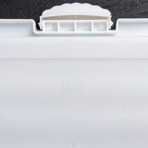 Тортовница прямоугольная 38х25 см, с прозрачной крышкой, цвет МИКС
