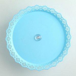 Блюдо для торта и пирожных на ножке, 26 см, цвет МИКС