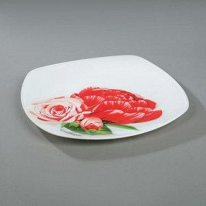 Сервиз столовый «Розы», 7 предметов: 1 шт, 27,1 cм, 6 шт, 20,5 cм, в подарочной упаковке