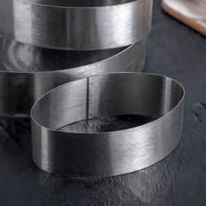 Набор форм для выпечки «Овал», 23?17,5?5 см, 3 шт