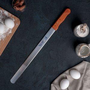 Нож для бисквита 35 см, ручка дерево