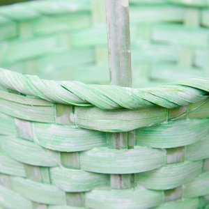 Набор корзин плетёных, бамбук, 3 шт., светло-зелёный цвет