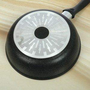 Сковорода «Marble Induction», d=24 см, цвет тёмный мрамор