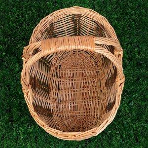 Корзина «Пикник», дно:32?15 см, верх:42?28 см, H=21/37 см, лоза