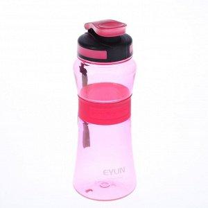 Бутылка 700 мл, спортивная, со шнурком и резиновой вставкой, микс, 8.5х23 см