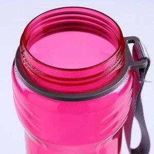 Бутылка для воды 600 мл, эргономичная, колпак-защелка, 23х6.5 см, микс