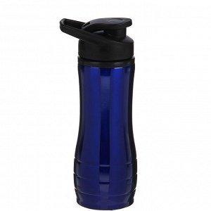 """Бутылка для воды """"Metallica"""", 600 мл, спортивная, синяя, 9х23 см"""