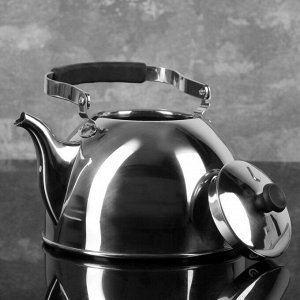 Чайник 3 л Нержавеющая сталь Для электрической плиты/ Для газовой плиты/ Для галогенной плиты/ Для стеклокерамической плиты/ Для индукционной плиты 1,185 кг