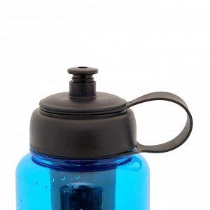 """Бутылка для воды """"LET'S WORK IT OUT"""", 1150 мл, с отделением для фруктов, микс, 9х23 см"""