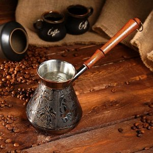 Турка для кофе медная «Ромашка», 0,6 л