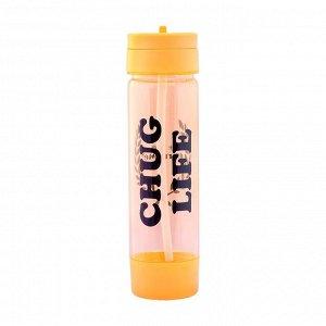 Бутылка для воды с поильником, 700 мл, летняя, микс, 7х27 см
