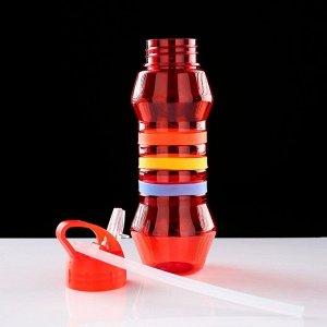 """Фляжка-бутылка для воды """"Себика"""", 800 мл, красная 1189441"""