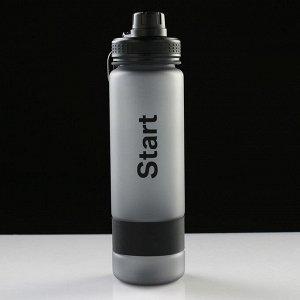 Бутылка для воды 900 мл, с петлей, винтовая крышка, микс, 7.5х27 см