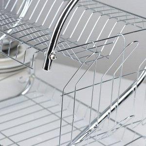 Сушилка для посуды Доляна «Стойка», S-образная, 40?23,5?34 см