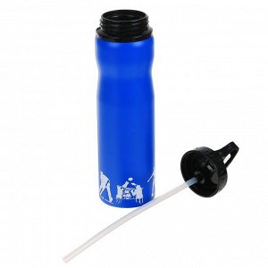Бутылка для воды 750 мл, спортивная, микс, 7.5х27 см