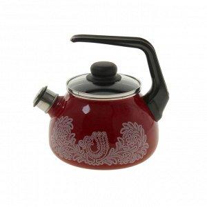 Чайник со свистком «Вологодское кружево», 2 л, фиксированная ручка
