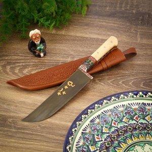 Пчак Шархон, рукоять из кости (ёрма), гарда с гравировкой