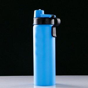 Бутылка для воды 750 мл, с карабином, 7х26 см, микс