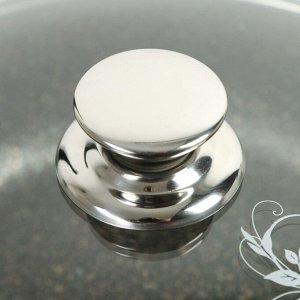 Кастрюля-жаровня Granit ultra original, 3 л, стеклянная крышка, антипригарное покрытие