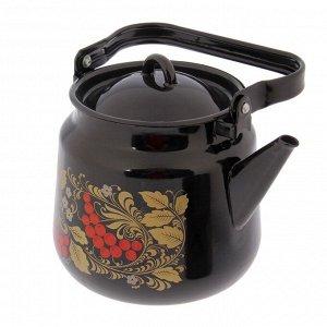 Набор кастрюль «Рябина», 4 шт: 1,5/2,9/4,5 л, чайник 3,5 л, цвет чёрный