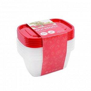 Набор пластиковых контейнеров Oursson, объём 1.1 л, 5 шт