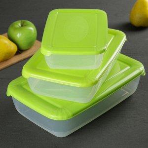 Набор контейнеров пищевых Plast team Polar, 3 шт: 900 мл; 1,9 л; 3 л, цвет МИКС 1231203