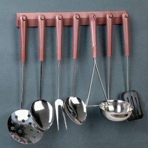 Набор кухонных принадлежностей, 7 предметов, на подвесе