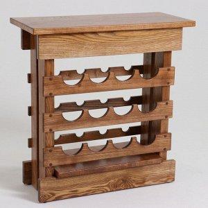 """Стойка-стол для вина """"Премиум"""". 50х30х65 см. массив ясеня"""