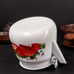 """Чайник 3,5 л """"Клубника садовая"""", цвет белый"""