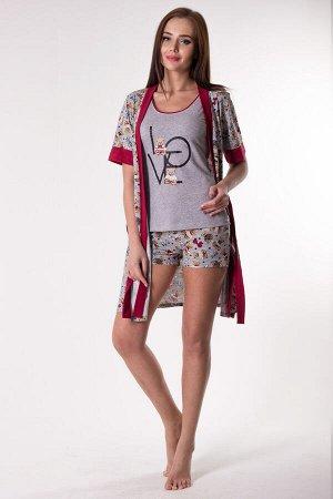 Комплект с халатом Ulrica Цвет: Серый. Производитель: Zarka