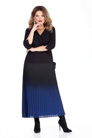 Платье Платье TEZA 256 №2  Состав ткани: Вискоза-20%; ПЭ-80%;  Рост: 164 см.  Элегантное женское платье приталенного силуэта., отрезное по линии бедер. Рукава втачные, прямые, по низу притачная манже