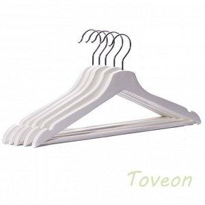 Плечики деревянные для одежды, цвет белый