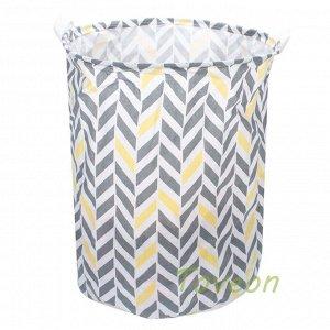 Корзина для белья большая, текстильная к-0212