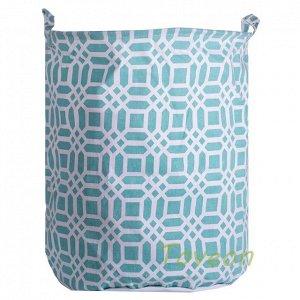 Корзина для белья большая, текстильная к-0219