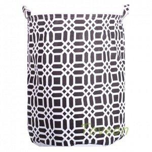 Корзина для белья большая, текстильная к-0220