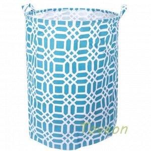 Корзина для белья большая, текстильная к-0221