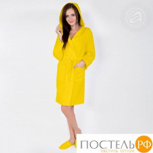 Жёлтый  Халат банный c капюшоном мод. 012.16.11 раз 5XL